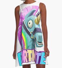 Fortnite Battle Royale Unicorn A-Line Dress