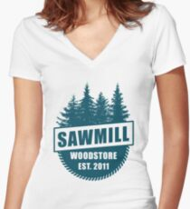 Sawmill 003 Women's Fitted V-Neck T-Shirt