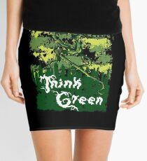 Think Green Mini Skirt