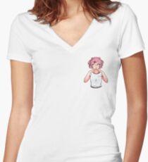 Natsuki Women's Fitted V-Neck T-Shirt