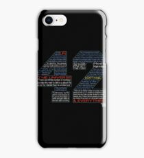 Hitchhiker's Guide 42 Quotes iPhone Case/Skin