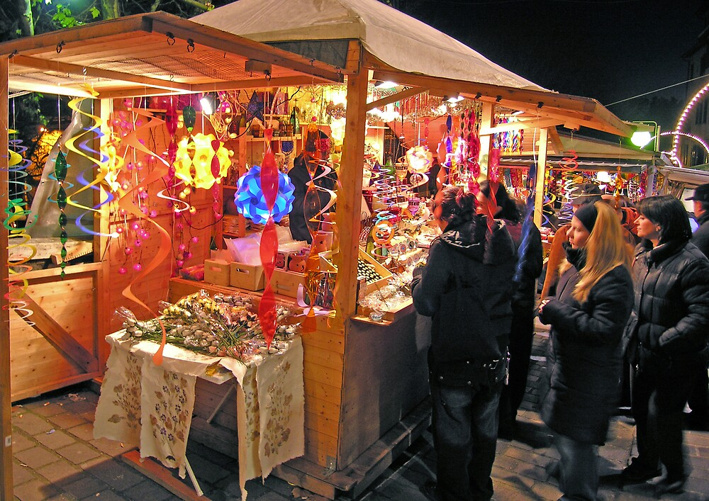 Christmas market stall, Perugia, Italy by Philip Mitchell