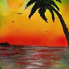 Tropical Sunset by George Hunter