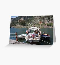 A Turkish Fishing Boat on the Dalyan River Greeting Card