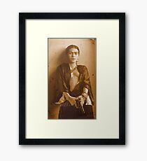 frida kahlo guns Framed Print
