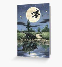 Alltägliches Hexen Tarot - Der Mond Grußkarte