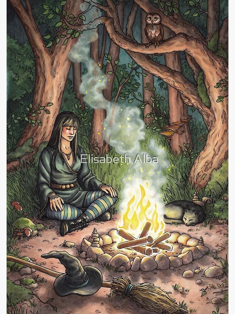Everyday Witch Tarot - The Hermit by elisabethalba