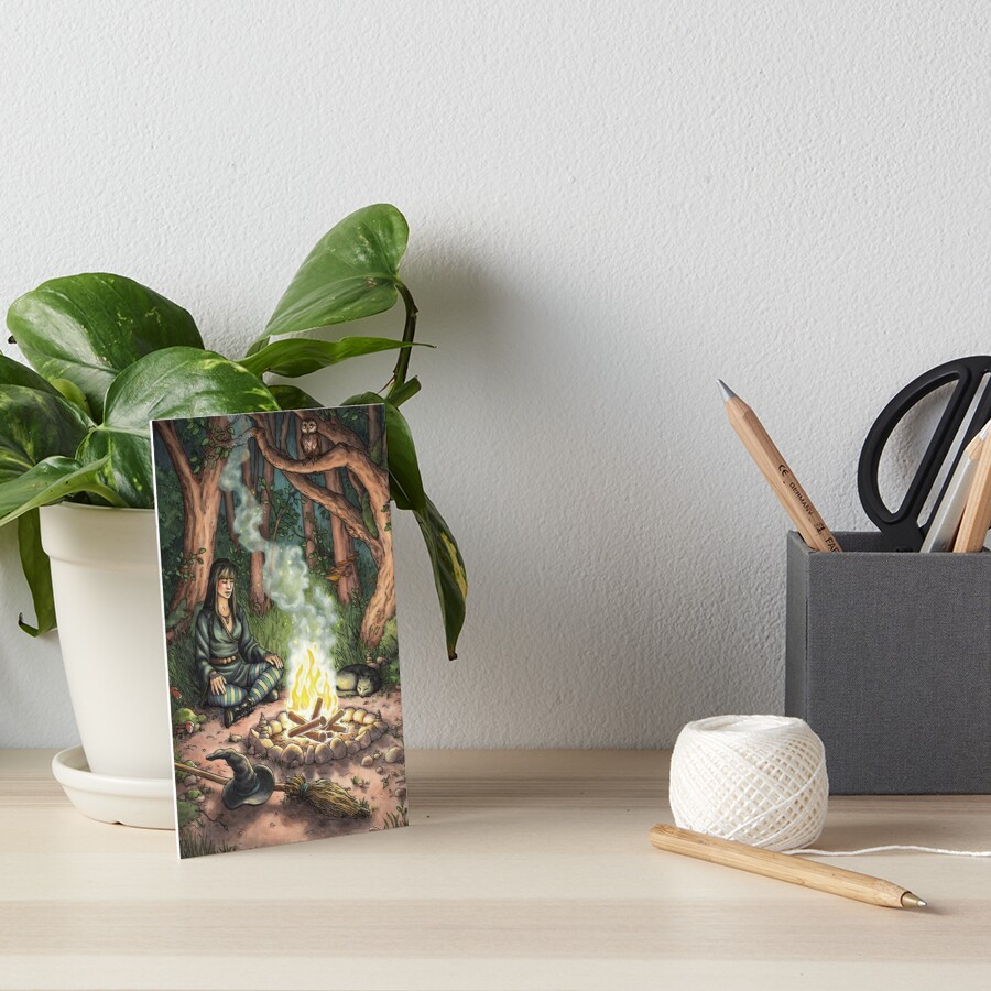 Everyday Witch Tarot - The Hermit Art Board Print