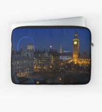 London eye and Big Ben by night, London, England Laptop Sleeve