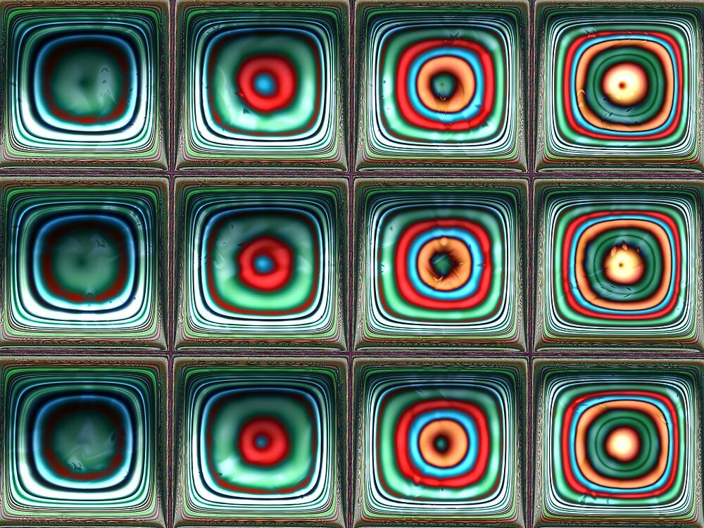 Squares 2 Fractal Art by Vicky Brago-Mitchell