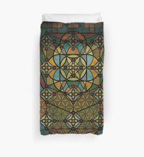 Sacred Geometry - Quantum conexion Duvet Cover