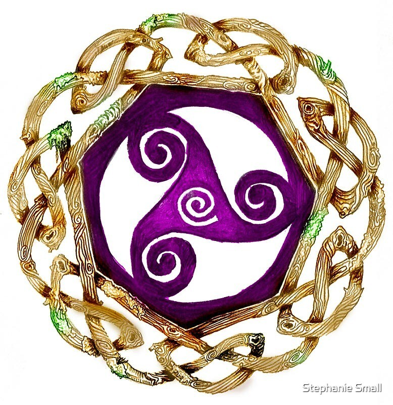 Celtic Irish Triskelle Knot Three Magic Magickal Witch Wicca Symbol by Stephanie Small
