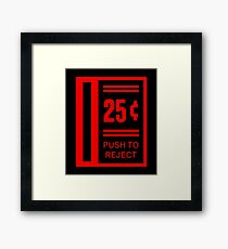 Insert Coin To Play Arcade Video Game Framed Print