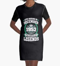 December 1952 The Birth Of Legends Graphic T-Shirt Dress