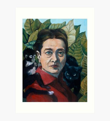 Simone de Beauvoir Art Print