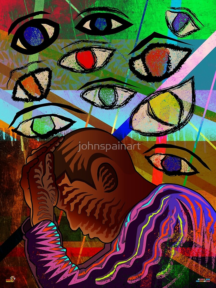 Paranoid ( DARK THOUGHTS HARSH TRUTHS 1 UNRELEASED ) by johnspainart
