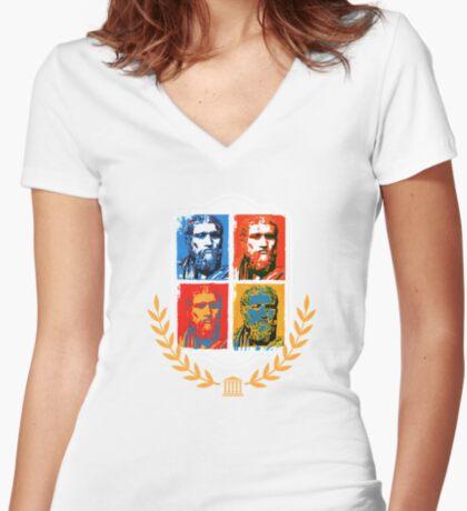 Plato Women's Fitted V-Neck T-Shirt