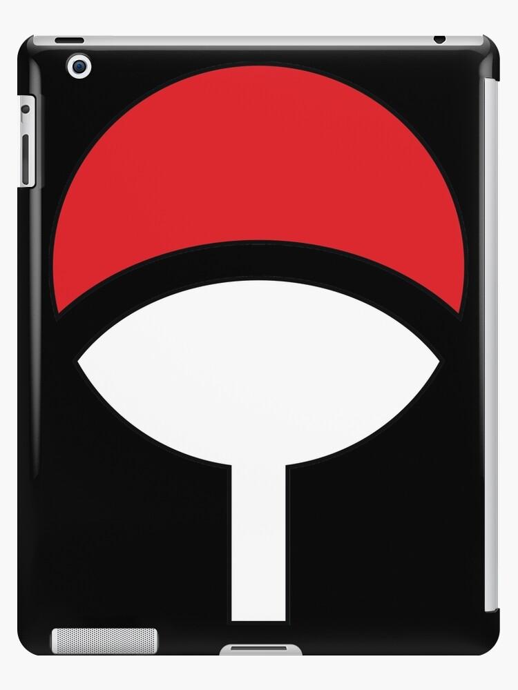 Naruto Uchiha Clan Symbol Logo Ipad Cases Skins By Eznerd Redbubble