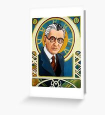 Kurt Gödel Greeting Card