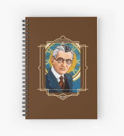 Kurt Gödel Spiral Notebook