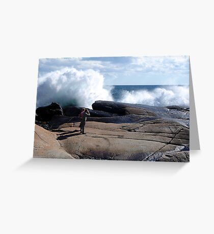 Bursting Waves Greeting Card