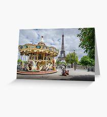 Parisian Carousel Greeting Card