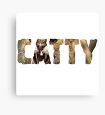 Catty Canvas Print