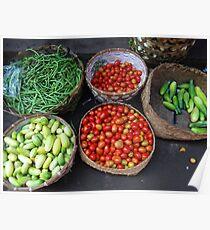 Vegetables in a basket Poster
