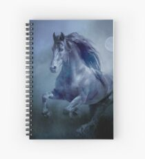 Running With The Moon Spiral Notebook