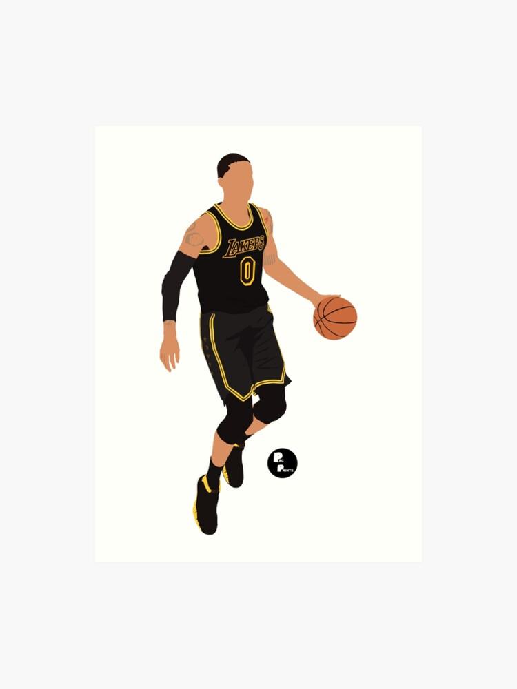 size 40 53c58 7f9dc Kyle Kuzma 'Black Mamba' Black Lakers Minimalist Art // Phone case, shirts,  stickers and more   Art Print