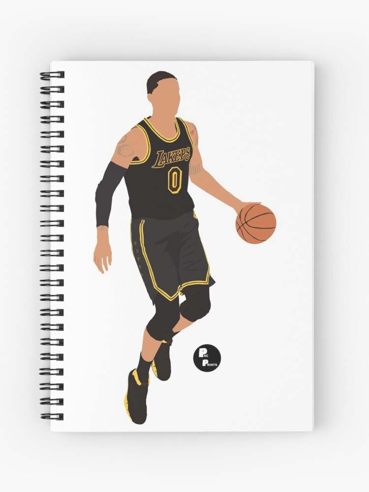 sale retailer fed21 995d7 Kyle Kuzma 'Black Mamba' Black Lakers Minimalist Art // Phone case, shirts,  stickers and more | Spiral Notebook