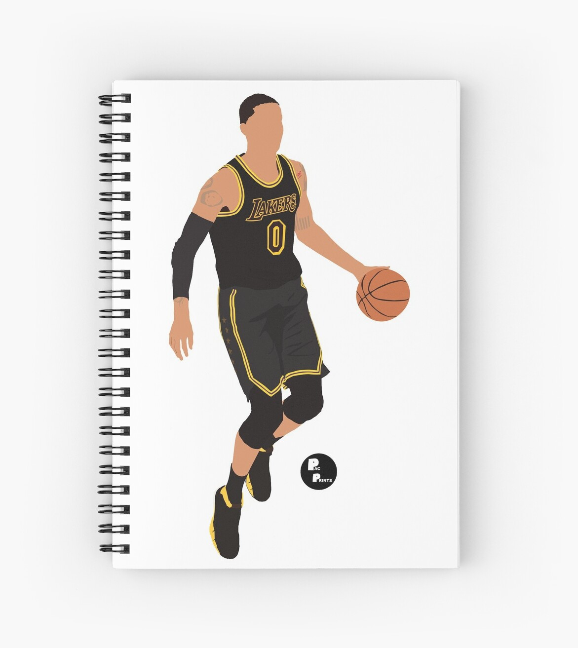 official photos 2d588 905e0 'Kyle Kuzma 'Black Mamba' Black Lakers Minimalist Art // Phone case,  shirts, stickers and more' Spiral Notebook by PacPrints
