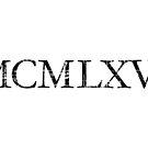 MCMLXVI Roman 1966 Vintage Birthday Year by theshirtshops