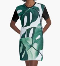Monstera #redbubble #artprints Graphic T-Shirt Dress