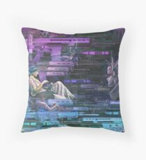 Krayola Section Blue/Indigo Throw Pillow