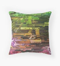 Krayola Section Orange/Green Throw Pillow