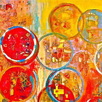Against The Rain Abstract Orange by BAR-ART