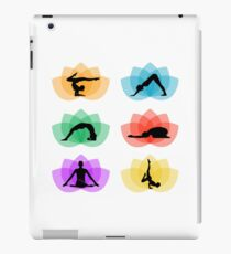 Poses of yoga and meditation on lotus iPad Case/Skin