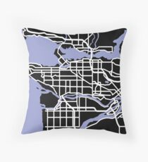 Map of Vancouver Throw Pillow