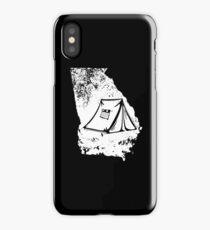 Georgia Tent Shirt Love Tent Camping Distressed Gear iPhone Case/Skin