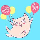 A Kitten with Balloons by LydiaLyd