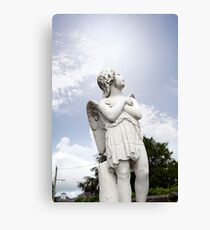 angel statue in a kilkenny graveyard Canvas Print
