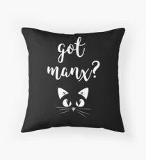 Manx Cat Got Manx? Isle Of Man Manx Cat 3 Legs Flag Floor Pillow