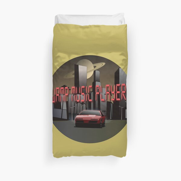 Swamp Music Players retro futuristic firebird saturn Duvet Cover