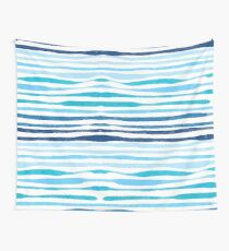 Watercolor Summer Blue Wall Tapestry