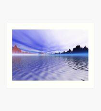 The big lake - orton effect Art Print