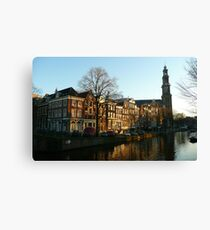 A well-known spot of Amsterdam Canvas Print
