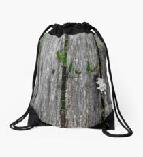 fence with flower Drawstring Bag