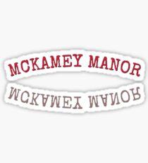 McKamey manor mirrored  Sticker