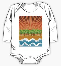 Sunset on tropical beach 3 Kids Clothes